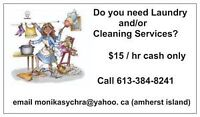 QUEENS STUDENT CLEANER- $15 HR for LABOUR, CASH ONLY