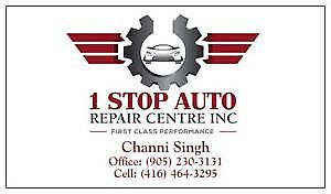 1 STOP AUTO REPAIR CENTRE--  MTO APPROVED SHOP