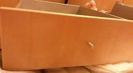 Two Ikea birch wardrobe drawers for the single wardrobe. Door also included.