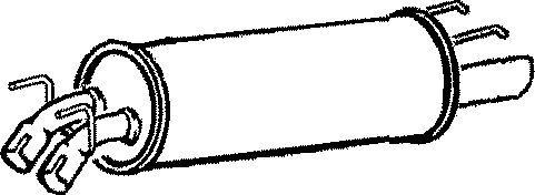 GM443B END SILENCER FOR VAUXHALL OMEGA 2.6 2000-2003