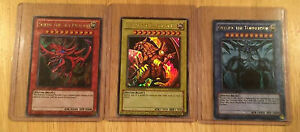 Yugioh, Set of ALL 3 GOD CARDS! Near MINT Condition