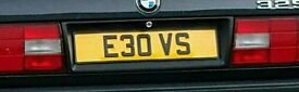 E30 VS PRIVATE NUMBER PLATE BMW E30