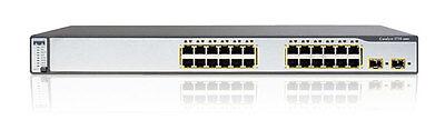 CISCO WS-C3750-24PS-S 24-Port 10/100 POE Layer 3 Switch ios-12.2-tar 3750-24PS-S