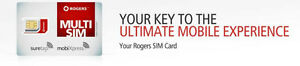 rodger's cell sim card  private # pay as you  go card never used
