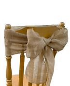 Burlap Chair Sashes - Brand NEW still in plastic wrappers!