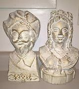 Vintage Cast Iron Bust French Queen Marie Antoinette