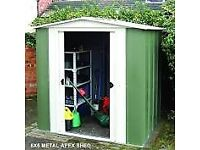 6 x 5 Greenvale Metal Apex Shed. New. Flatpack. PICK UP TODAY.