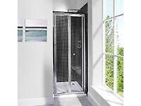 Bi-fold Shower Doors 1000mm (100cm) Wide - Brand New In Box / Unused