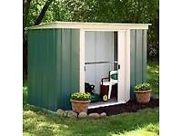8 x 4 Greenvale Pent Metal Shed. New. Flatpack.