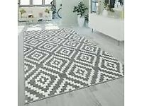 Paco home Stella grey and white Rug