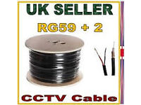 cctv camera cable rg59 +2 shotgun 250 metres reel