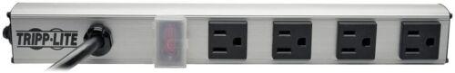 Tripp Lite 4 Outlet Power Strip 10 ft Cord with NEMA 5-15P Plug 12 inch PS120410