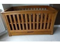 *Mamas and Papas Ocean Cot-Bed - Solid heavy duty oak* PRICED FOR FAST SALE