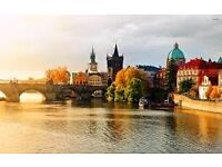 1 Return Flight Edinburgh to Prague From 22th August to 2rd September