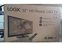 Brand new 32 inch LOgik HD LED TV , Brand new