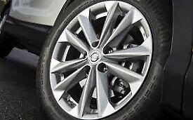 "4 alloy wheels 17"" 7j no tyres"