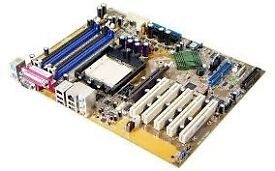 Asus main motherboard with amd 2.4 ghz cpu & 8gb ram memory only £28