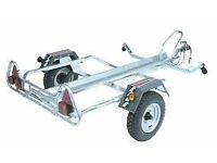 SINGLE MOTORBIKE TRAILER PM310 COST £ 650 NEW ACCEPT £ 400 NO TEXTS
