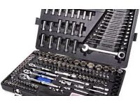 😱look😱brand new boxed halfords 200 piece socket and wrench set £125😱makita dewalt