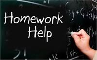 Homework and assignments done by professionals.