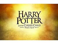 URGENT Harry potter - Cursed Child: Balcony Row F - Part 1 Today - Part 2 Tomorrow