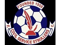Civil Service Strollers FC looking for players born 2003 & 2004