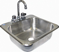 Drop-in Hand Sink W Faucet Stainless Steel 20x17