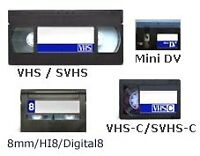 VHS to DVD Transfers ( VHS, VHS-C, 8mm, 8mm reels )+ More!!! /.\