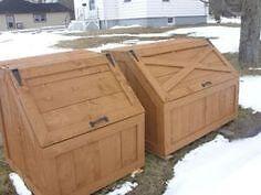 ISO wooden garbage bib