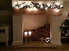 EXTRA LONG DISPLAY LOGS - One dozen 18 inch long display fire logs for special fireplace effects