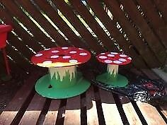 Mushroom cotton reel table