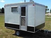 Pop up trailer for ice hut conversion