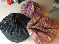 6 Beanbags for Sale - £20 For the lot or £2 each.