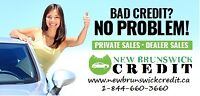 New Brunswick Credit auto financing for all types of credit!