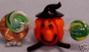 Dollhouse Miniature Halloween Fimo Pumpkin Men