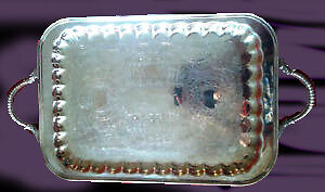 Antique Silver Serving Plate