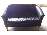 Club style sofa.