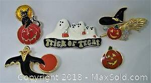 Assorted Vintage Halloween Pins - A