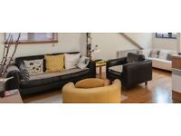 Urgent -Black leather sofa and armchair bargain!!