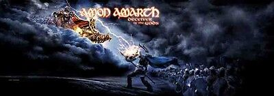 "Amon Amarth Deceiver of the Gods 20.5""x58"" Fabric Poster Flag DOOR BANNER-New!!"