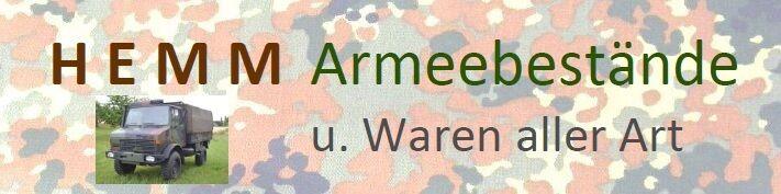 HEMM Armeebestände uWaren aller Art