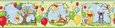Disney Winnie The Pooh & Friends Balloons Peel & Stick Wallpaper Border Nursery