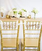Bride and Groom Chair Decorations - Brand New!