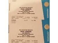 Theatre Tickets - Paul Zerdin 14 Oct @ 8pm
