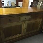 Beautiful wooden Rochamb MU B Side Board- Excellent condition- light and dark wood details