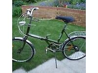 Vintage Raleigh 20 'Stowaway' folding bike