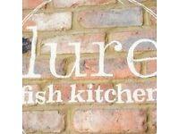 energetic waiter/wiatress lure fish kitchen kentish town