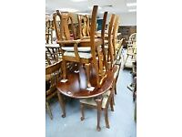 **FREE** Queen Anne Style Table, Carver Chairs & Bed (Foot-board, headboard & slats)