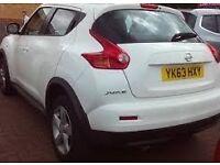 2013 Nissan Juke visia 1.6 white low mileage 63 plate 2013