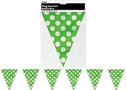 Polka Dots SPOTS Banner Bunting Flag Decor Assorted Colours Baby Shower 1st